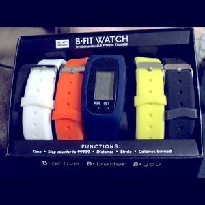 Mens b active fitness tracker interchangeable band